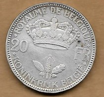 20 Francs 1935 FR-FL Pos B - 1934-1945: Leopold III