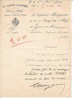 1er REGIMENT De ZOUAVES - BRIGADE D'INFANTERIE D'ALGERIE - Courrier Du Capitaine Mingasson En Date Du 21 Avril 1901 (!) - Documents Historiques