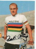 CYCLISME TOUR  DE  FRANCE  Autographe  RUDI ALTIG  SUR CARTE COUPS  DE PEDALE - Cyclisme