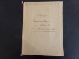 """Acte Notarié Du 5 Mars 1907 """" Conventions """" Notaire Couteau à Chateauneuf-sur-Loire - Vieux Papiers"""