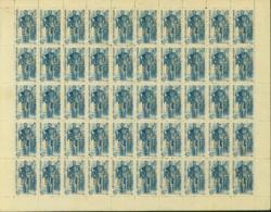Vietnam 1945 - Feuille Complète Michel Nº11 - Emission Sans Gomme (DE) DC1235 - Vietnam