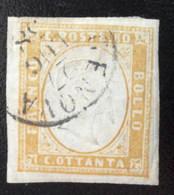 Italia Cerdeña, Sello Sc. 14c Ocre 80c. Usado Lindo Matasello L6423 - Sardaigne