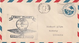 LETTRE - U.S.A - FIRST FLIGHT : ATLANTA-MIAMI Le 15/12/1929 De St Petersburg - Event Covers