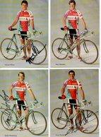 CYCLISME TOUR  DE  FRANCE 4 Autographes  Helvetia  Winterberg  Demierre  Wilson Manders - Cyclisme