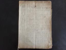 """Acte Notarié Du 20 Septembre ?? 1809 """" Vente D'une Maison """" ( Déchirures ) - Vieux Papiers"""