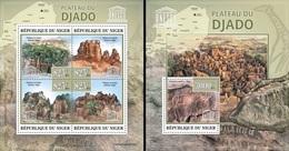 Niger 2013, UNESCO, Plateau Djado, 4val In BF +BF - Niger (1960-...)