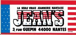 Autocollant - Vêtement - JEAN'S - La Seule Vraie Jeannerie Nantaise - NANTES (44) - 16 X 7,5 Cm - Stickers