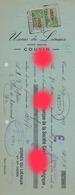 COUVIN  1937 / USINES DU LIENAUX - Cambiali