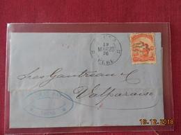 Lettre Du Perou De 1876 Pour Valparaiso - Peru