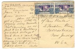 Arts Décoratifs 25 C. ( X 2) Sur Lettre Vers Laves USA 1925 Dentelures Impeccables - Francia