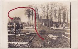 59 - ... Wicres Friedhof Mit Kirche Cimetière   Carte Photo Allemande - Autres Communes