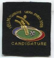 FOOTBALL / SOCCER / FUTBOL / CALCIO - Greece & Turkey Uefa Euro 2008 Candidature, Sport Patch, D 10 X 9 Cm - Patches