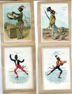Lot 250 - 6 Chromo's Chromo's Zwarte Artiesten  - Anno 1890. - Chromos