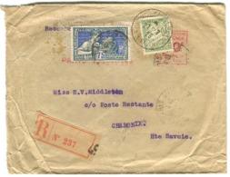 Arts Décoratifs 75 C. AVEC PERFORASTION B.B. Barclays Bank Sur Lettre Recommandée 1925 Dentelures Impeccables - Lettres & Documents