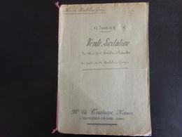 """Acte Notarié Du 13 Juin 1915 """" Vente-licitation """" Notaire Couteau à Chateauneuf-sur-Loire - Vieux Papiers"""