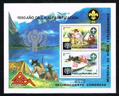 """Kind & Jugend """"Annee Internationale De L` Enfant 1979 """", NICARAGUA , Mi.  Block 120  Scouting , Postfr. / MNH / Neuf - Kind & Jugend"""