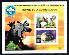 """Kind & Jugend """"Annee Internationale De L` Enfant 1979 """", NICARAGUA , Mi.  Block 121  Scouting , Postfr. / MNH / Neuf - Kind & Jugend"""