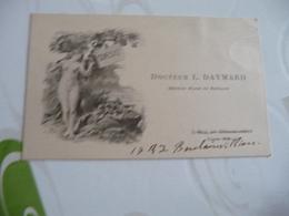 Carte De Visite CDV  Docteur L.Daymard Médecin Major Menu Nu - Cartes De Visite