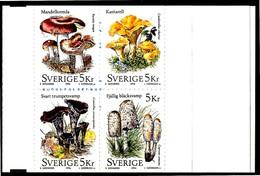 SVEZIA / SVERIGE 1996** - Funghi / Mushrooms - Booklet  MNH, Come Da Scansione. - Funghi