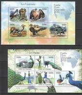 Y268 2011 COMORES FAUNA BIRDS VAUTOURS PAONS 2KB MNH - Eagles & Birds Of Prey
