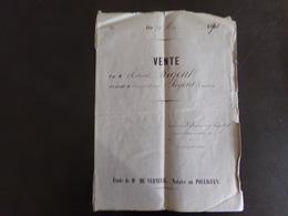 """Acte Notarié Du 25 Mai 1871 """" Vente """" Notaire Verneuil Au Pouliguen - Vieux Papiers"""