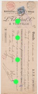 EMAILLERIE THIBAUT à VIESVILLE / Courcelles 1902 RARE - Lettres De Change