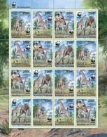 Niger 2013, WWF Giraffes, 4valx4 In Sheetlet - W.W.F.