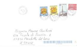 AFFRANCATURA MISTA X ITALIA CON EUOPA ANDORRA 1988 - Andorra Francese