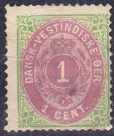 2018-0076 DWI 1887 Mi 5Ib Used O Dent. 14:13,5 - Denmark (West Indies)