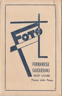 8070 Eb. Vecchia Bustina Per Foto Ferrarese Guglielmo Novi Ligure Aa '30 Circa 15x10 - Vieux Papiers