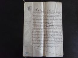 Acte Notarié Du 23 Février 1877 à Guérande,  Notaire Verneuil Au Pouliguen - Vieux Papiers