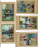Lot 218 - 12 Chromo's/prenten - Kinderspelen Jongens En Meisjes - Anno 1890. - Chromos