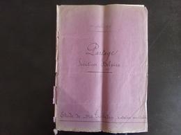 """Acte Notarié Du 14 Juillet 1876 """" Partage  """" Notaire Trebeden Au Croisic - Vieux Papiers"""