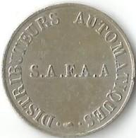 Jeton De Distributeur Automatique   SAFAA - Professionnels / De Société