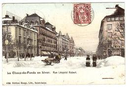 La Chaux-de-Fonds En Hiver - Rue Léopold Robert - Ed. Buggy, Saint-Imier - NE Neuchâtel