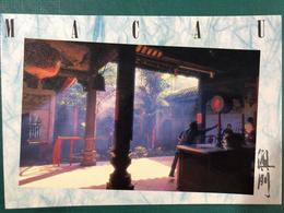 MACAU A VIEW OF INSIDE A TEMPLE, EDITION OF MACAU GOVERMENT - China