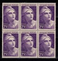 YV 731 N** Marianne De Gandon Bloc De 6 Cote 12 Euros - France