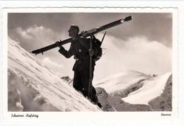 """Propaganda Karte , """" Schwerer Aufstieg """" Soldat Mit Skier - Weltkrieg 1939-45"""