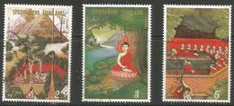 Thailand - 1992 Visakha Bucha Day Used  Sc 1469-71 - Thailand