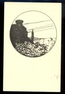 Castle In The Background / Not Circulated Postcard, 2 Scans - Scherenschnitt - Silhouette