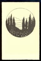 Landscape / Not Circulated Postcard, 2 Scans - Scherenschnitt - Silhouette