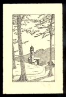 Church In The Background / Raovl? / Not Circulated Postcard, 2 Scans - Scherenschnitt - Silhouette