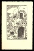 Wall / 924 / Not Circulated Postcard, 2 Scans - Scherenschnitt - Silhouette