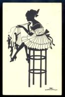SILHOUETTE - Eva Schoenberg / G.m.b. H. Perlin Nr. 3031/4 / Not Circulated Postcard, 2 Scans - Scherenschnitt - Silhouette