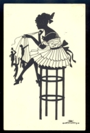 SILHOUETTE - Eva Schoenberg / G.m.b. H. Perlin Nr. 3031/4 / Not Circulated Postcard, 2 Scans - Silhouettes