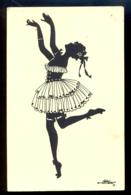 SILHOUETTE - Eva Schoenberg / G.m.b. H. Perlin Nr. 3031/2 / Not Circulated Postcard, 2 Scans - Scherenschnitt - Silhouette