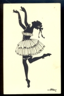 SILHOUETTE - Eva Schoenberg / G.m.b. H. Perlin Nr. 3031/2 / Not Circulated Postcard, 2 Scans - Silhouettes