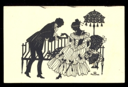 SILHOUETTE - Eva Schoenberg / G.m.b. H. Perlin Nr. 3032/5 / Not Circulated Postcard, 2 Scans - Silhouettes