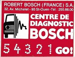 Autocollant - Automobiles - Centre De Diagnostic BOSCH - 9 X 7 Cm - - Stickers