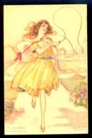 Mauzan - Woman In Dress / 247-6 / Not Circulated Postcard, 2 Scans - Mauzan, L.A.